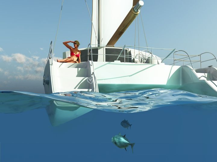 Unique catamaran