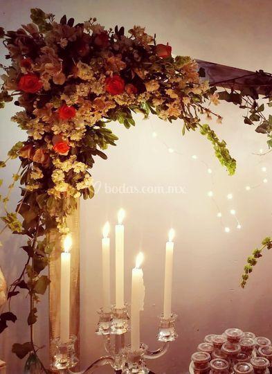 Flores naturales presentes