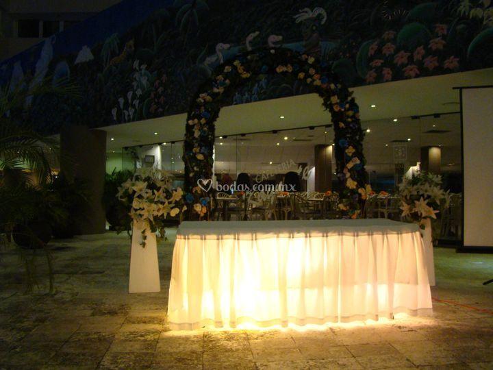 Ceremonia en área de alberca