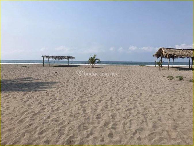 Paisaje playa virgen