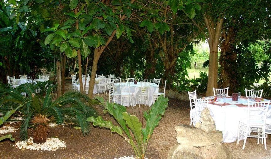 Mayan secret hotel for Restaurante jardin botanico