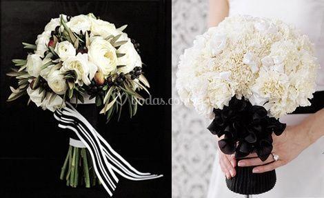 Bouquet blanco y negro