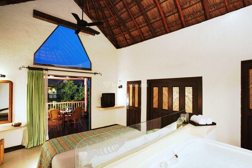 Interior de las villas