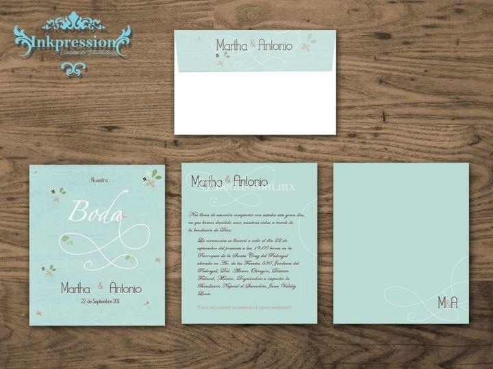 Invitación Blue Wedding