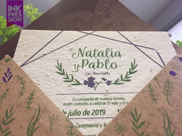 Invitación papel semilla
