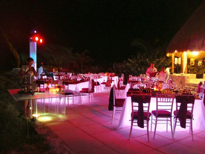 Montaje en piso para boda