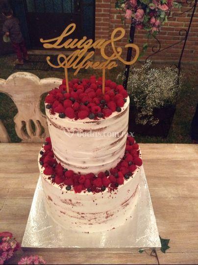 Naked cake framboise para 150