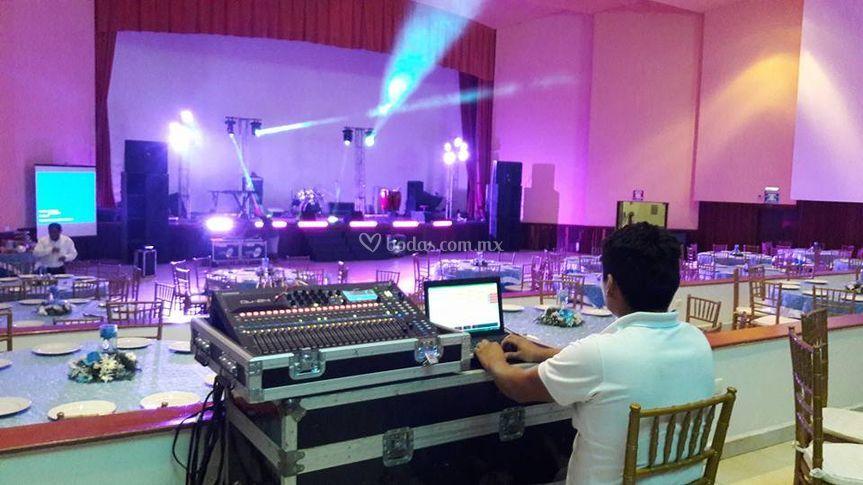 Audio digital e iluminación