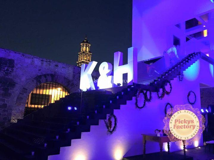 Letras gigantes 3D en Puebla