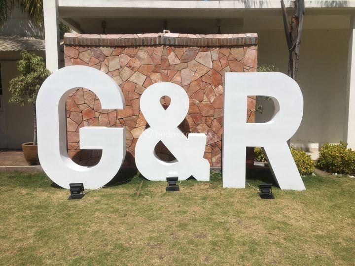 Letras gigantes 3D