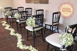Decoración pasillo boda civil