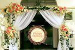Decoración entrada boda