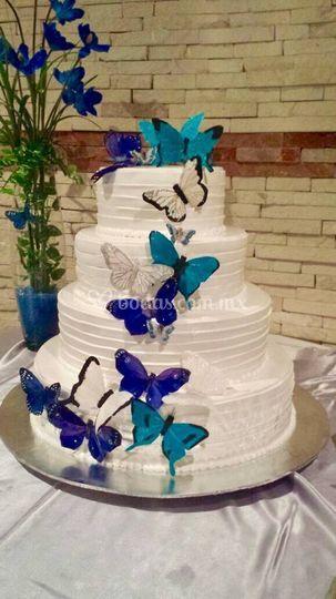 Pastel mariposa