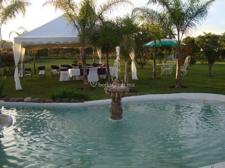 Lago con fuente de los deseos de los encantos terraza foto 8 - Fuente terraza ...