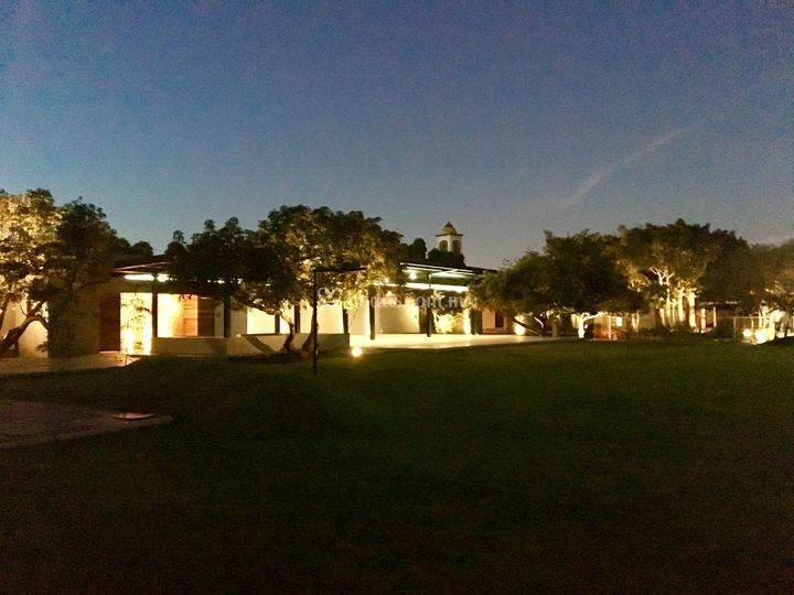 Terraza de noche