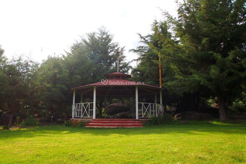 Kiosco, ideal para boda civil