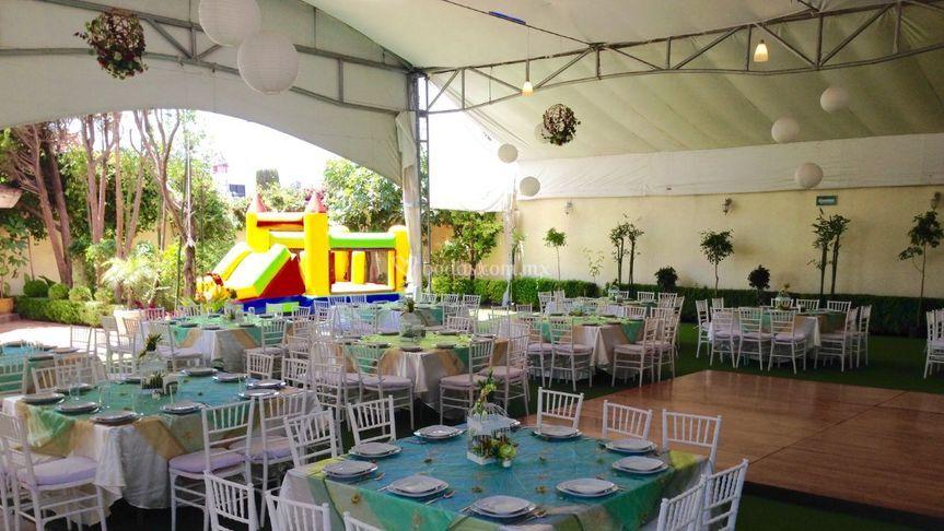 Estructura de techado de jard n el tradicional foto 2 for Alma de agua jardin de eventos