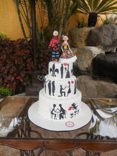 Fondant, silueta, cake topper
