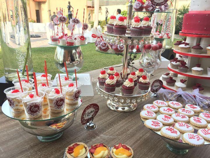 Postres cupcakes galletas
