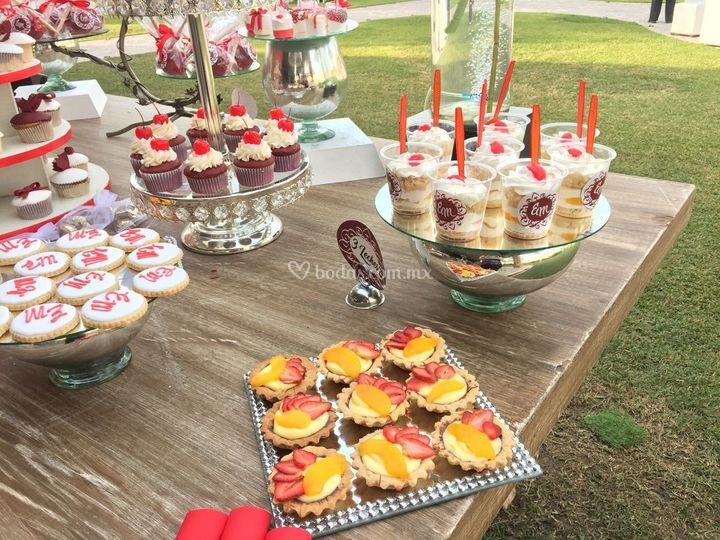 Tartaleta, 3 leches, cupcakes