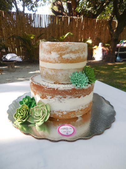 Mini naked cake suculentas