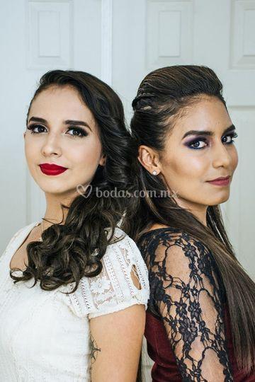 Maquillaje novia y dama