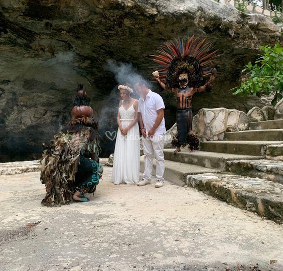 Ceremonia Maya en Tulum