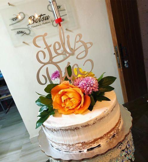 Naked cake con flores
