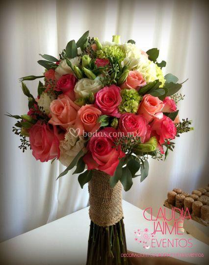 Bouquet con yute