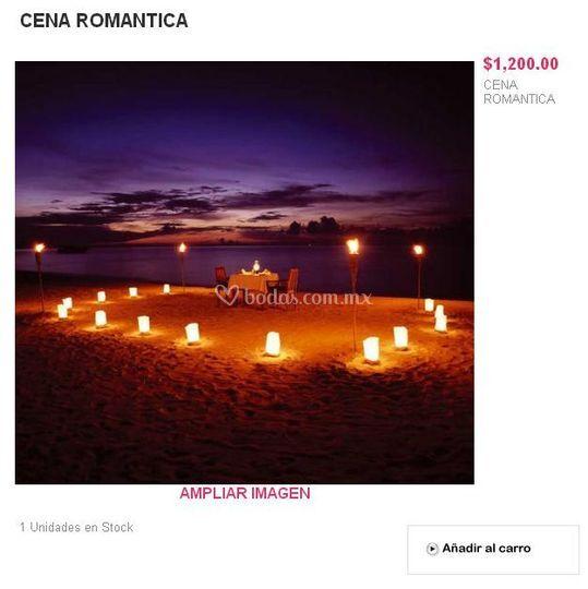 Regalo cena romántica