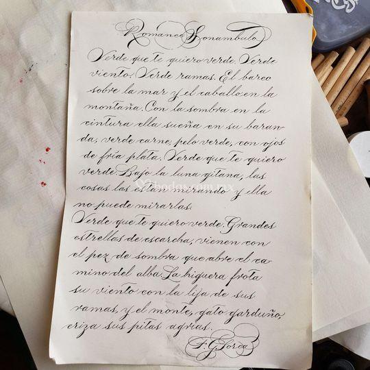 Letra Manuscrita americana