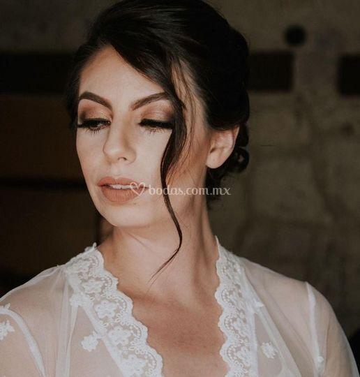 Maquillaje diamante novia