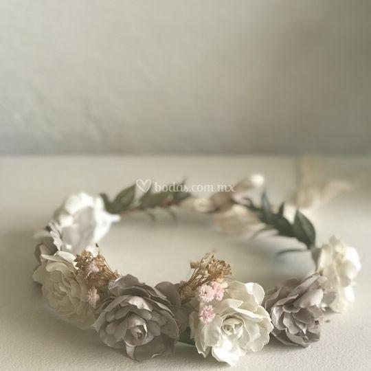 Corona de flores Novia