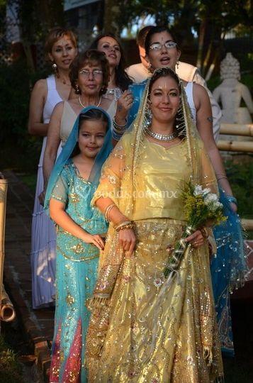 Boda hindú vestuario