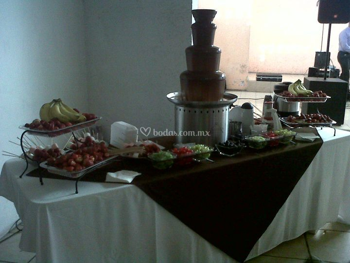 Boda fuente de chocolate