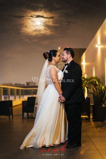 Retrato novia y novio