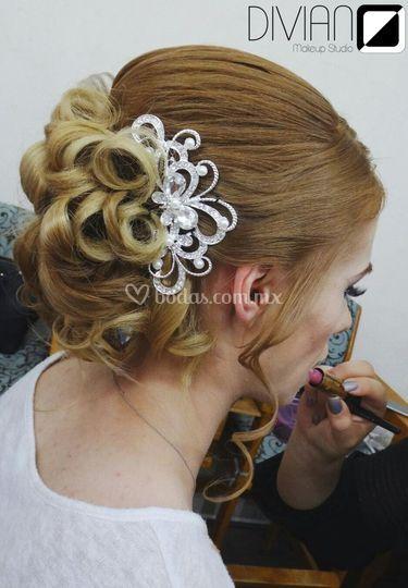Prueba de peinado novia