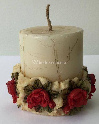Velas decoradas de amor con papel fotos - Proveedores de velas ...