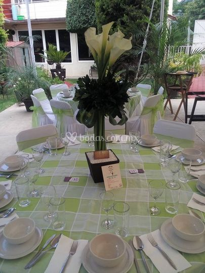 Banquetes roses for Jardin querubines