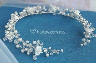 Guía cristales, perlas, flores