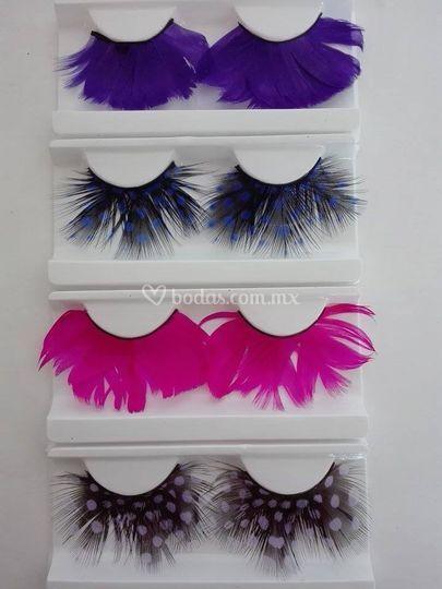 Pestaña plumas