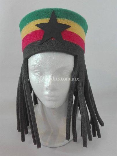 Sombrero hule espuma reggae de Alegría Macarena  5c8bc1ae875
