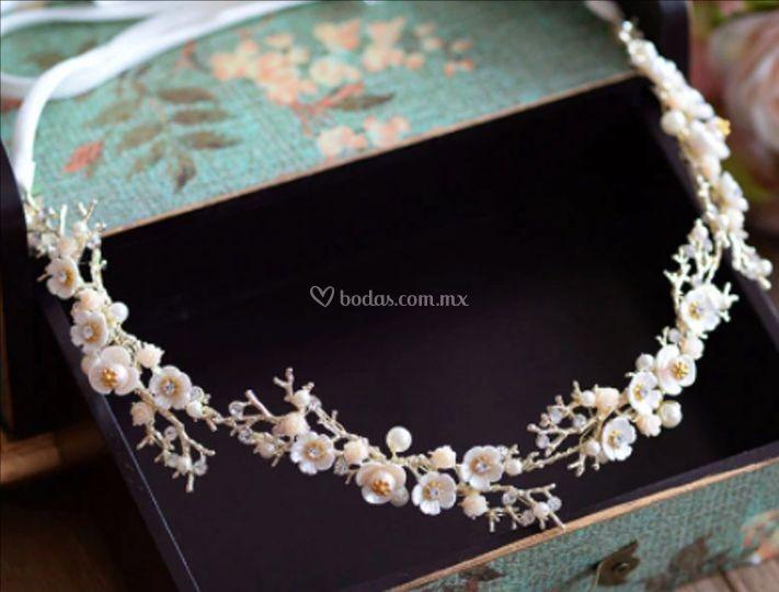 Diadema flexible flores