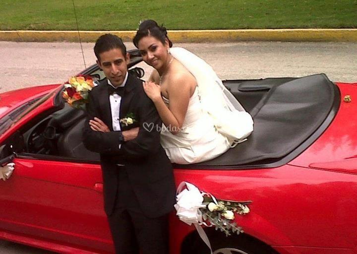 Autos convertibles para bodas.