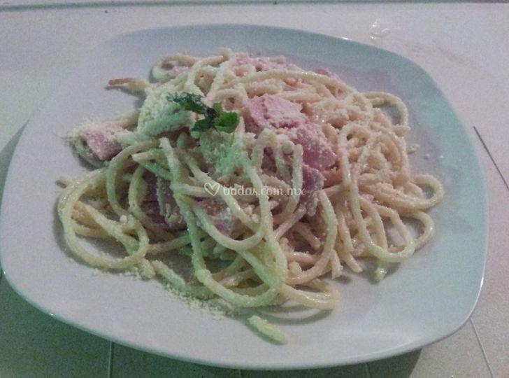 Espagueti blanco
