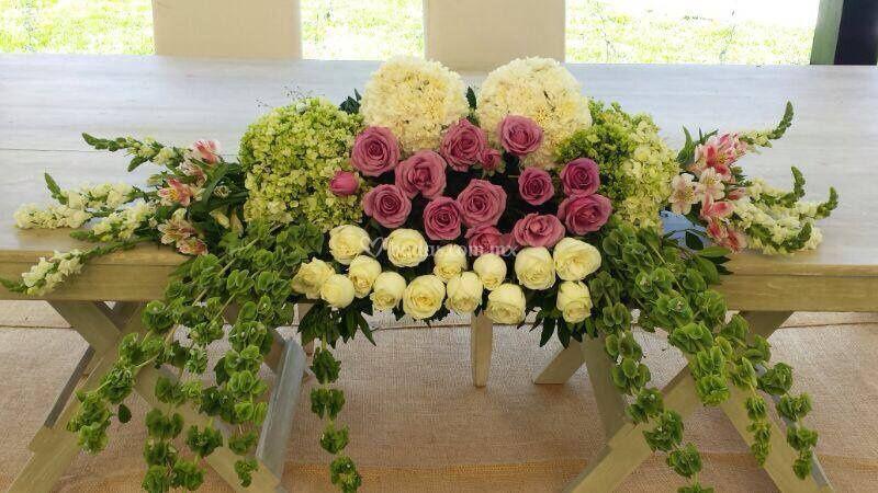 Centro de mesa para recibidor de magui florer a fotos - Mesa para recibidor ...