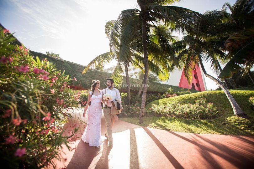 Fotógrafo de bodas hotel Oasis