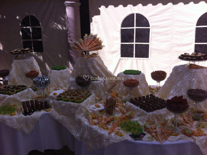 Mesa combinada de boda