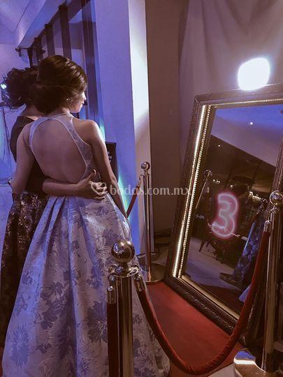 Selfie mirror paquete oro