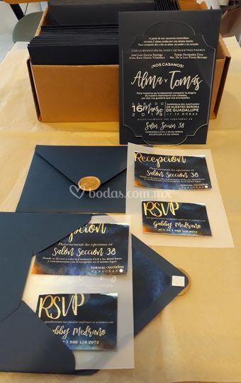 Set invitaciones en acrilico